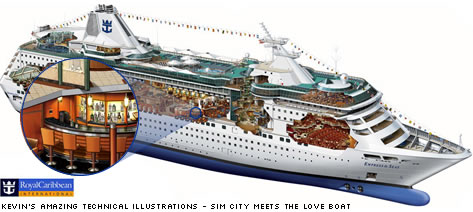 'The Empressof the Seas' cutaway illustration