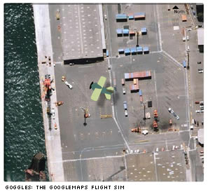Goggles: the Google Maps Flight Sim