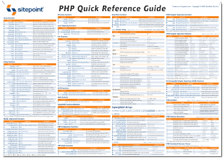 php now available for your wall sitepoint rh sitepoint com pmp quick reference guide pdf Quick Reference Guide Layout