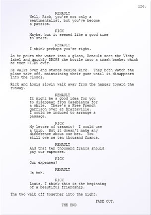 Casablanca screenplay - page 126