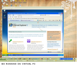 IE8 in virtual PC