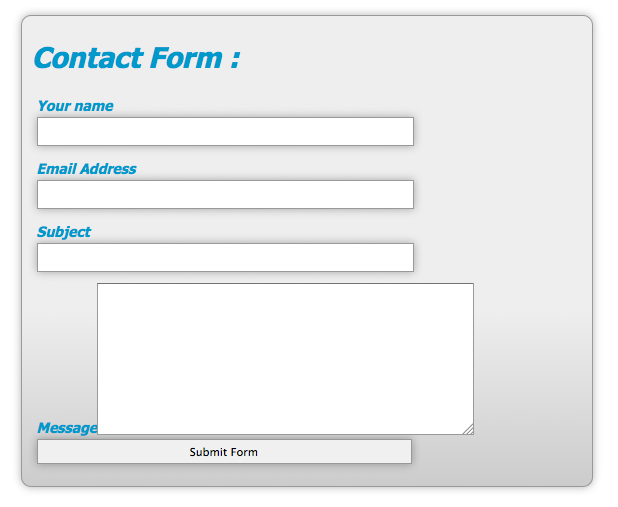 Style Web Forms Using CSS — SitePoint