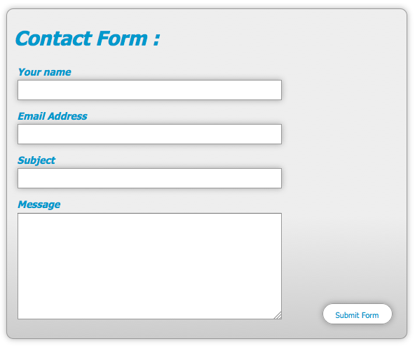 Style Web Forms Using Css