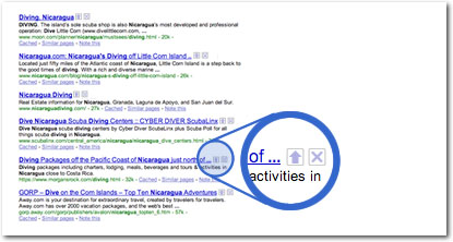 Google search results with digg-style voting