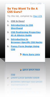 The articles that comprise the CSS Guru List