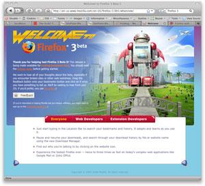 Firefox 3 Beta 5 Screenshot