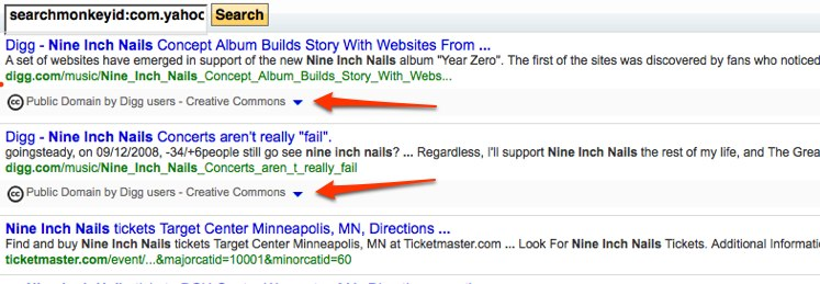 SearchMonkey search for Nine Inch Nails