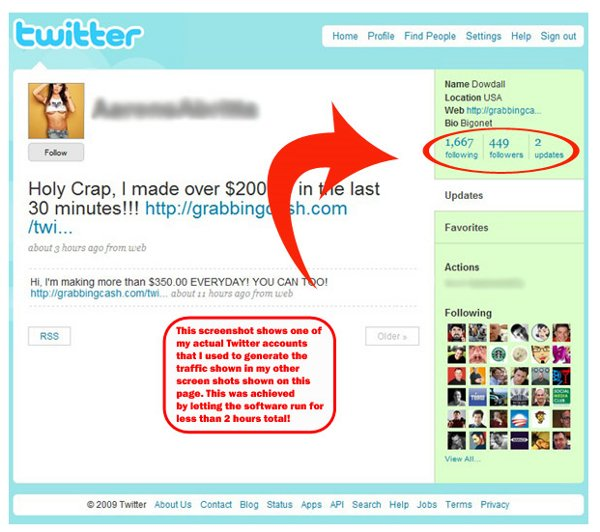 The proof profile on Tweet Tornado