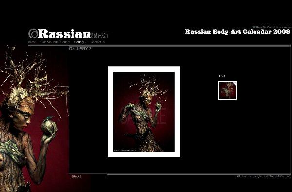 RussianBodyArt by Pixel Criminals conveys the artist's wish