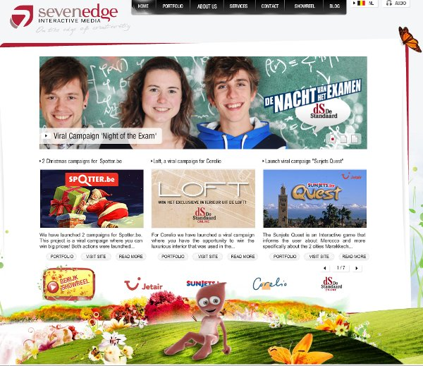 sevenedge site reveals beauty atop motion