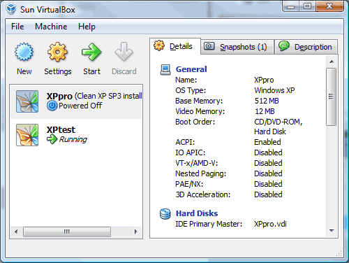 VirtualBox VM Manager