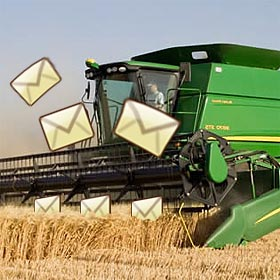 Email harvest time