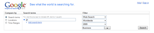 Google Insight for Search.