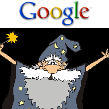 Google and wizard.