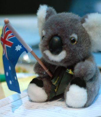 Team Australia's mascot