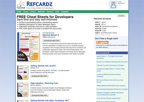 DZone Refcardz screenshot