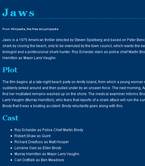jaws text