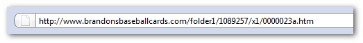 Example of a unfriendly URL
