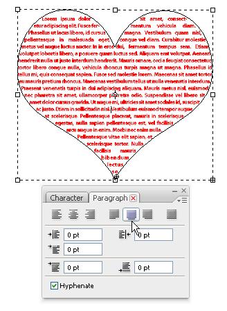 HeartShapeParagraph