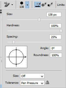Remove a Background: Brush adjustment panel