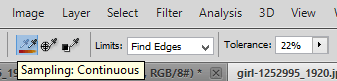 Limits settings. Find edges.