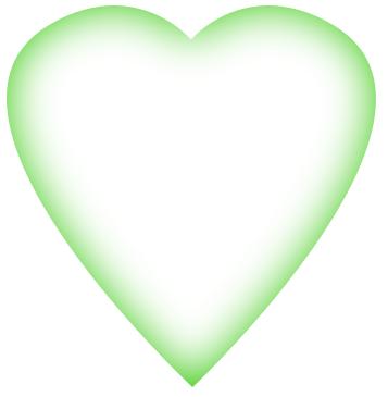 GreenFadedHeart