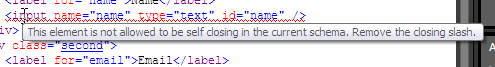 Closing slashes are invalid in HTML 4
