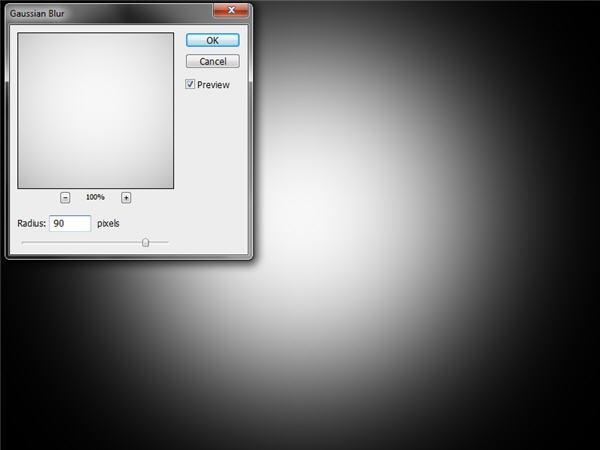 Black Background White Blur