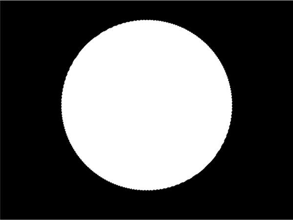 Black Background White Circle