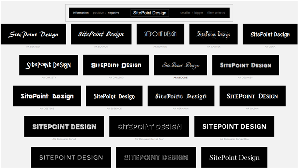 Wordmark.it Helps You Pick Your Fonts