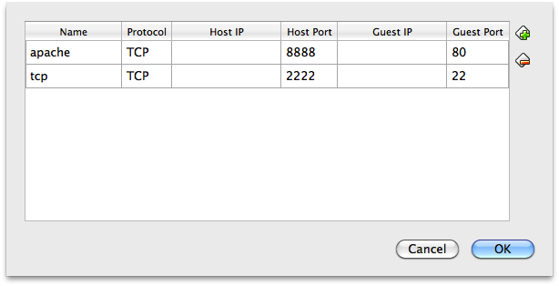 Port forwarding setup in VirtualBox
