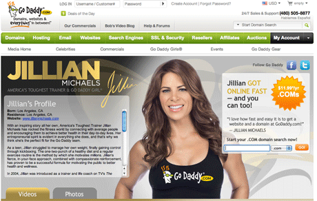 Jillian Michaels on GoDaddy.com