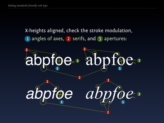 Slide 89 from Standards friendly web type: check for stylistic variation