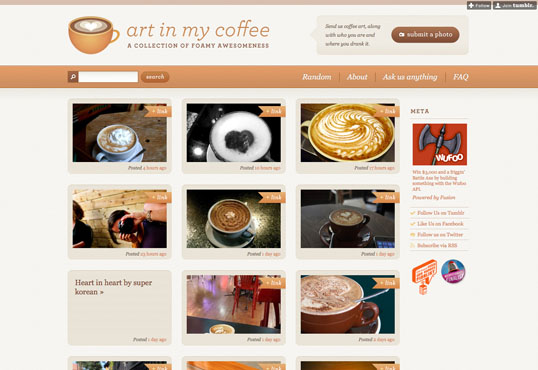 Fig 4, Art in My Coffee—featuring colors directly drawn from the site's subject matter