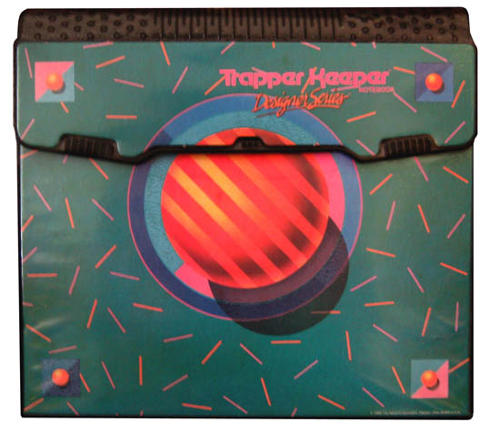 Fig. 15, A discordant Trapper Keeper cover
