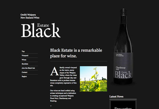 Fig. 5, Black Estate wines—living up to its name