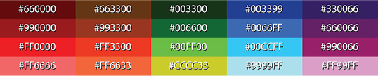 Fig. 1, Hexadecimal color examples