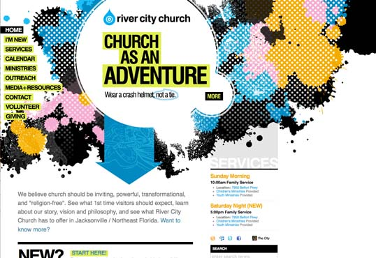 Fig. 20, The adventurous River City Church