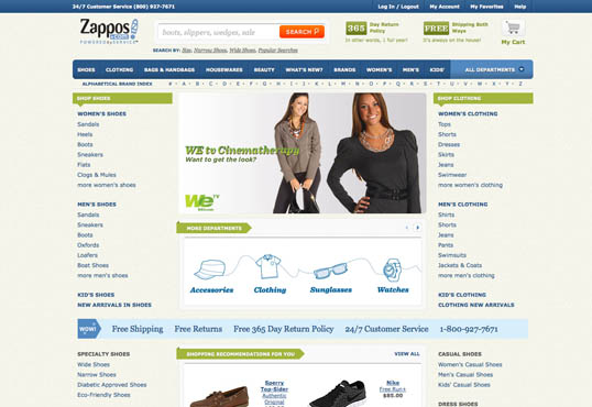 Fig. 9, Zappos gets down to business
