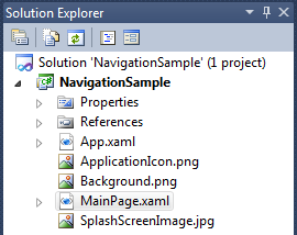 WP7 Navigation Figure 1