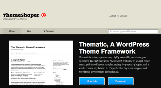 ThemeShaper uses a Thematic child theme