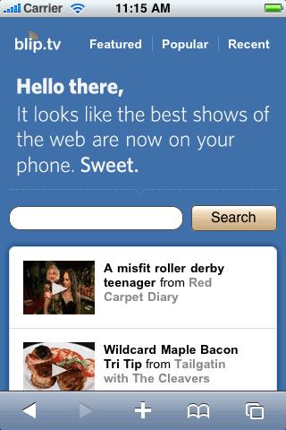 Blip.tv on iOS (as seen on http://cssiphone.com)