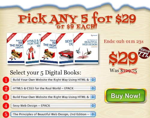 5 digital books for $29!