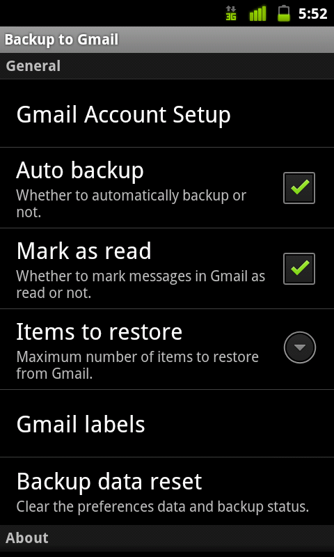 Backup to Gmail
