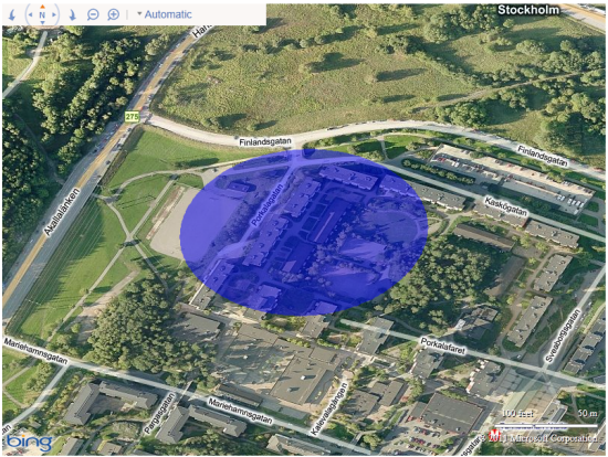 mapping a location with a valid key