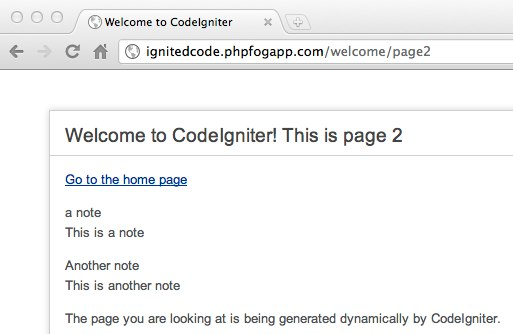 CodeIgniter with MySQL on PHPFog