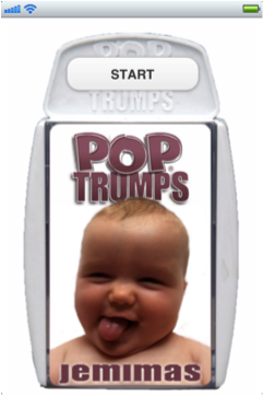 The face of Pop Trumps