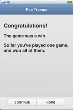 winners's screen