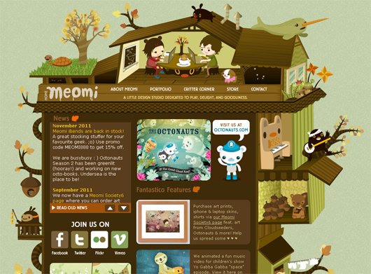 10 Highly Interactive Beautifully Illustrated Web Designs