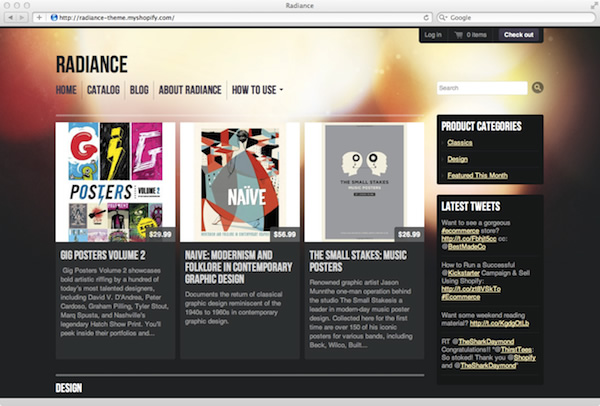 An introduction to building shopify themes sitepoint radiance is a free shopify theme pronofoot35fo Image collections